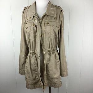 MICHAEL KORS Tan Utility Jacket ~ Medium
